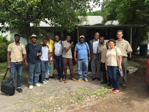 Haitian farmers at Hope Gardens nursery for training